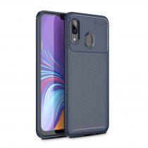 RMPACK Samsung Galaxy A40 Tok Szilikon TPU Carbon Fiber - Karbon Minta Sötétkék