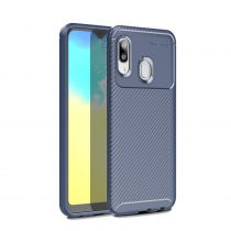 RMPACK Samsung Galaxy A20e Tok Szilikon TPU Carbon Fiber - Karbon Minta Sötétkék