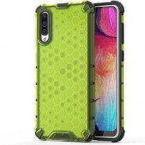 RMPACK Samsung Galaxy A50 A30S Shock-Proof Szilikon Tok Ütésálló Kivitel Honeycomb Style Zöld