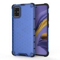 RMPACK Samsung Galaxy A51 Shock-Proof Szilikon Tok Ütésálló Kivitel Honeycomb Style Kék
