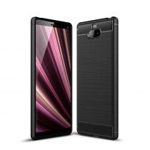 RMPACK Sony Xperia 10 Szilikon Tok Ütésállókivitel Karbon Mintázattal Fekete