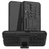 RMPACK Huawei P40 Lite Ütésálló Tok Kitámasztható 2in1 Hybrid Fekete