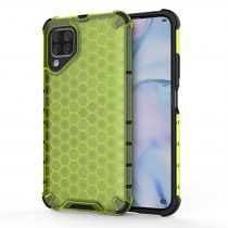 RMPACK Huawei P40 Lite Shock-Proof Szilikon Tok Ütésálló Kivitel Honeycomb Style Zöld