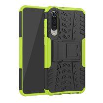 RMPACK Xiaomi Mi 9 SE Ütésálló Tok Kitámasztható 2in1 Hybrid Zöld