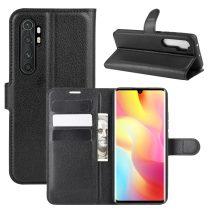 RMPACK Xiaomi Mi Note 10 Lite Notesz Tok Business Series Kitámasztható Bankkártyatartóval Fekete