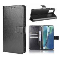 RMPACK Samsung Galaxy S20 FE Notesz Tok Kitámasztható Funkcióval Crazy Series Fekete