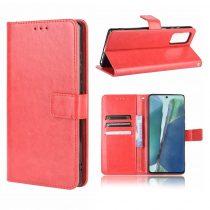 RMPACK Samsung Galaxy S20 FE Notesz Tok Kitámasztható Funkcióval Crazy Series Piros