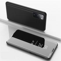 RMPACK Samsung Galaxy S20 FE View Window Notesz Tok Tükörfelülettel Fekete