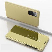 RMPACK Samsung Galaxy S20 FE View Window Notesz Tok Tükörfelülettel Arany