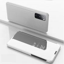 RMPACK Samsung Galaxy S20 FE View Window Notesz Tok Tükörfelülettel Ezüst