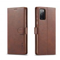 RMPACK Samsung Galaxy S20 FE Business IMEEKE Notesz Tok Prémium Barna