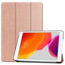 RMPACK iPad 10.2 (2020) (2019) Tok Tri-Fold Series Kitámasztható Rózsaarany