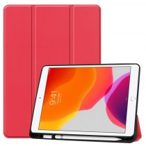 RMPACK iPad 10.2 (2020) (2019) Tok Tri-Fold Series Pencil Tartóval Kitámasztható Piros
