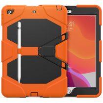 RMPACK iPad 10.2 (2020) (2019) Ütésálló Tok Shockproof Series Kitámasztható PC+TPU 2in1 Pencil Tartóval Narancssárga