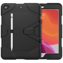 RMPACK iPad 10.2 (2020) (2019) Ütésálló Tok Shockproof Series Kitámasztható PC+TPU 2in1 Pencil Tartóval Fekete