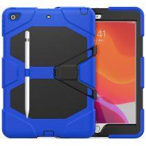 RMPACK iPad 10.2 (2020) (2019) Ütésálló Tok Shockproof Series Kitámasztható PC+TPU 2in1 Pencil Tartóval Kék