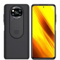 Xiaomi Poco X3 Védőtok Nillkin CamShield Case Fekete