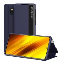 RMPACK Xiaomi Poco X3 Notesz Tok View Window Kitámasztható Kék