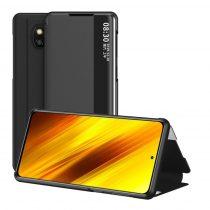 RMPACK Xiaomi Poco X3 Notesz Tok View Window Kitámasztható Fekete