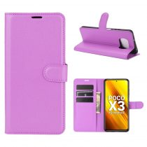 RMPACK Xiaomi Poco X3 Notesz Tok Business Series Kitámasztható Bankkártyatartóval Lila
