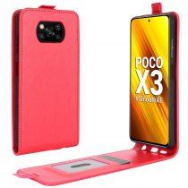 RMPACK Xiaomi Poco X3 Flip Tok Mágneses Piros
