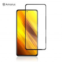 AMORUS Xiaomi Poco X3 Üvegfólia - Full Screen - Kijelzővédő Üveg Tempered Glass