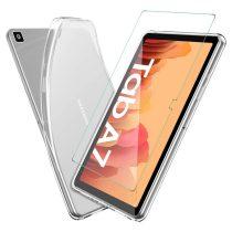 RMPACK Samsung Galaxy TAB A7 Szilikon Tok 10.4 T500 T505 Áttetsző + Kijelzővédő Üvegfólia
