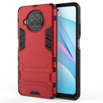 RMPACK Xiaomi Mi 10T Lite 5G Tok 2in1 Ütésálló - Kitámasztható TPU Hybrid Piros