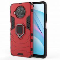 RMPACK Xiaomi Mi 10T Lite 5G Védőtok Ring Guard Gyűrűs 2in1 Tok Ütésálló - Kitámasztható TPU Hybrid Piros