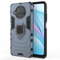 RMPACK Xiaomi Mi 10T Lite 5G Védőtok Ring Guard Gyűrűs 2in1 Tok Ütésálló - Kitámasztható TPU Hybrid Kék