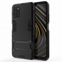 RMPACK Xiaomi Poco M3 Tok 2in1 Ütésálló - Kitámasztható TPU Hybrid Fekete