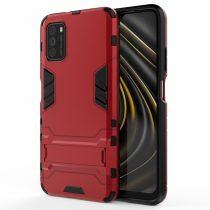 RMPACK Xiaomi Poco M3 Tok 2in1 Ütésálló - Kitámasztható TPU Hybrid Piros