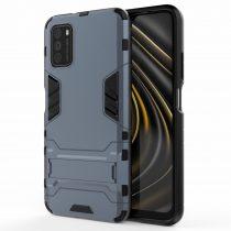 RMPACK Xiaomi Poco M3 Tok 2in1 Ütésálló - Kitámasztható TPU Hybrid Sötétkék