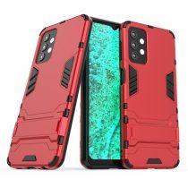 RMPACK Samsung Galaxy A32 5G Tok 2in1 Ütésálló - Kitámasztható TPU Hybrid Piros