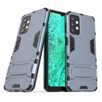 RMPACK Samsung Galaxy A32 5G Tok 2in1 Ütésálló - Kitámasztható TPU Hybrid Sötétkék