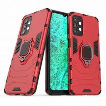 RMPACK Samsung Galaxy A32 5G Védőtok Ring Guard Gyűrűs 2in1 Tok Ütésálló - Kitámasztható TPU Hybrid Piros
