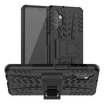 RMPACK Samsung Galaxy A32 5G Ütésálló Tok Kitámasztható 2in1 Hybrid Fekete