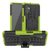RMPACK Samsung Galaxy A32 5G Ütésálló Tok Kitámasztható 2in1 Hybrid Zöld