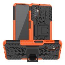 RMPACK Samsung Galaxy A32 5G Ütésálló Tok Kitámasztható 2in1 Hybrid Narancssárga