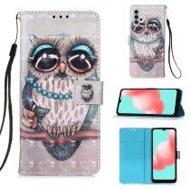 RMPACK Samsung Galaxy A32 5G Notesz Tok Mintás Kitámasztható - Kártyatartóval Colorful Series A08