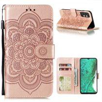 RMPACK Samsung Galaxy A32 5G Notesz Tok Mandala Mintás Kártyartóval- Kitámasztható Rózsaarany