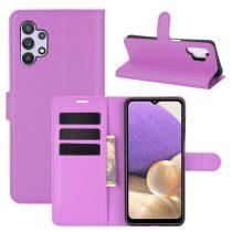 RMPACK Samsung Galaxy A32 5G Notesz Tok Business Series Kitámasztható Bankkártyatartóval Lila