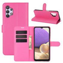 RMPACK Samsung Galaxy A32 5G Notesz Tok Business Series Kitámasztható Bankkártyatartóval Pink
