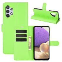 RMPACK Samsung Galaxy A32 5G Notesz Tok Business Series Kitámasztható Bankkártyatartóval Zöld