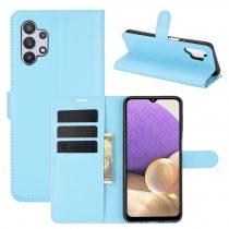 RMPACK Samsung Galaxy A32 5G Notesz Tok Business Series Kitámasztható Bankkártyatartóval Világoskék