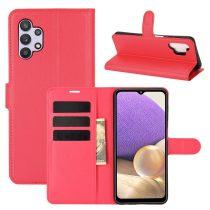 RMPACK Samsung Galaxy A32 5G Notesz Tok Business Series Kitámasztható Bankkártyatartóval Piros