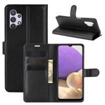 RMPACK Samsung Galaxy A32 5G Notesz Tok Business Series Kitámasztható Bankkártyatartóval Fekete
