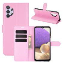 RMPACK Samsung Galaxy A32 5G Notesz Tok Business Series Kitámasztható Bankkártyatartóval Rózsaszín