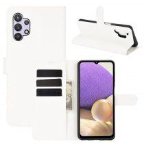 RMPACK Samsung Galaxy A32 5G Notesz Tok Business Series Kitámasztható Bankkártyatartóval Fehér