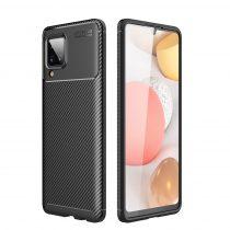 RMPACK Samsung Galaxy A12 Tok Szilikon TPU NEW Carbon Fiber - Karbon Minta Fekete
